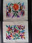 2 NEW MEXICAN HANDEMBROIDERED PILLOW CASES LATIN NATIVE TEXTILE ART ETHNIC CRAFT