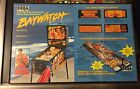 2 SEGA FACTORY ORIGINAL NOS BAYWATCH PINBALL FLYERS