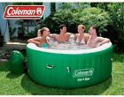 Coleman Lay Z Massage Portable Outdoor Inflatable Spa Pool with Chemical Floater
