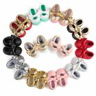 0 18Month Baby Girls Soft Soled PU Leather Cute Shoes Infant Toddler Moccasin