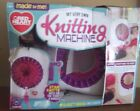 Learn HOW TO easy knit KNITTING MACHINE craft kit HAND CRANK tabletop RED HEART
