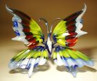 Blown Glass Figurine Murano Art Insect Colorful BUTTERFLY