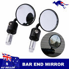 7/8''  Black CNC Bar End Motorbike Mirrors 4 Moto Guzzi Mille GT / Ippogrifo V7