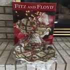 Fitz & Floyd Classics Renaissance Collection Christmas Santa Serving Bowl NIB