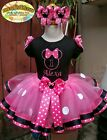 Minnie Mouse Birthday Tutu Outfit with matching Hair Bow1st 2nd 3rd 4th 5th