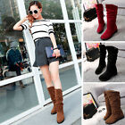 Autumn Winter Snow Boots Women Suede Knee Long Boot Flat Flock Leisure Shoes