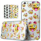 For iPhone Models EMOJI Cool Funny Smile Faces Custom Case Cartoon Gel Tpu Cover