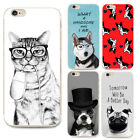 For iPhone Models FUNNY ANIMAL QUOTES Playful Case Cartoon Gel Tpu Novelty Cover