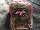 Duck Commander Real Tree Black And Pink Hat NWT