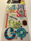 EK Success Sticko Travel Are we there yet glittery stickers