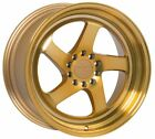 18X85 +45 F1R F28 5X1143 MACHINED GOLD WHEELS MAZDA SPEED 3 5 6 MIA