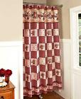 Country Primitive Hearts  Stars Berries Bathroom Fabric Shower Curtain NEW