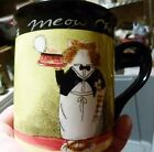 Meow Chow 16 oz Mug Cup Certified International Tracy Flickinger Cat Chef