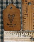 25 XS FROM THE HEART PRIMITIVE handmade craft show price valentines HANG TAGS