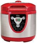 Elite Home Kitchen NonStick 6 Qt. Digital Pressure Rice Cooker with Delay Timer