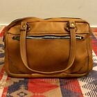 Vintage 70s Brown Leather Handbag Purse