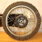 2002 SUZUKI JR80  FRONT WHEEL ASSEMBLY (SURFACE RUST ON RIM,WORN TIRE)
