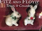 Fitz and Floyd Town & Country Salt/Pepper (Rabbits) NIB