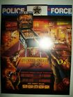 1989 Williams POLICE FORCE Pinball Flyer