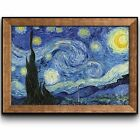 Starry Night by Vincent Van Gogh Framed Art Prints Home Decor 16x24 inches