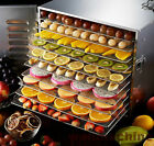 Food Dehydrator,Stainless steel, Timer, Preserve it Natually Book, 10 Trays