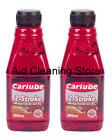 2 X Carlube Mineral 2 stroke low Ash 500ml Top Quality Mineral Oil Fast Postage
