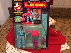 THE REAL GHOSTBUSTERS SLIMED HEROES WINSTON ZEDDMORE KENNER 1986 MIP ON CARD