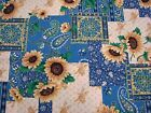 2 YARDS CONCORD SUNFLOWER PATCH FABRIC QUILTING CRAFTS SEWING