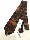 Paul Smith Tie 8cm Autumn Colours Floral tie 100 Silk Made in Italy