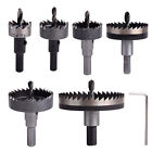 6x HSS Saw Tip Drill Bit Hole Cutter Tool for Stainless Steel Wood Metal 22-65mm