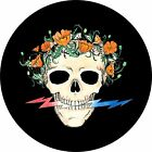 Grateful dead Poppy skull Spare Tire Cover(all sizes available)