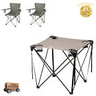 Quad Table Portable Lightweight Ozark Trail Grey Color Camping Folding 28