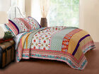 Greenland Home Fashions Thalia Multi Colored Full/Queen Size Quilt Set, 3-Piece