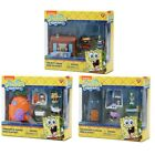 New Spongebob Squarepants Mini Playsets Krusty Krab Pineapple Squidward Lot of 3