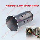 1x Stainless Steel Motorcycle 51mm Exhaust Can Muffler Baffle DB Killer Silencer