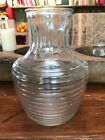 Large Anchor Hocking Ribbed Glass Water Pitcher Juice Carafe 8.5