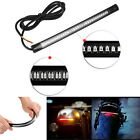 Motorcycle Brake License Plate Turn Signal Integrated Tail Flexible Light 48 LED