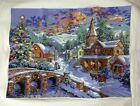 New completed finished cross stitch Christmas snow Home Decor Gifts