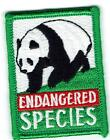 Girl Boy Cub ENDANGERED SPECIES Animal Fun Patches Crest Badge SCOUTS GUIDE