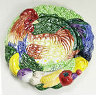 Fitz & Floyd  coq du village rooster vegetable classic candle drip plate EUC