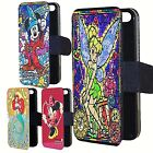 Disney stained glass effect phone case cover flip wallet present iphone Samsung