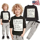 Toddler Kids Baby Boy Blouse T shirt Tops + Long Pants Tracksuit Outfits Clothes