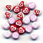 HEARTS JAZZY BRADS Scrapbooking 3 colors Valentine Card Making Stamping