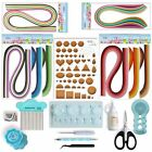 Paper Qillling Kit with Blue Tools 960 Strips Board Mould Crimper Coach Comb Set