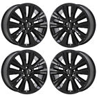20 FORD EDGE BLACK WHEELS RIMS FACTORY OEM 2015 2016 2017 2018 SET 4 10074