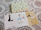 LOT OF 17 VINTAGE NOTE CARDS,THE GIRLS T COMPANY,PRESENT COMPANY BRAND