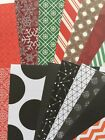 THROUGH THE SEASONS Printed Paper Lot26pcApprox6x 6ChristmasDots Snow
