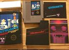 1985 NES Nintendo GYROMITE Complete in Box Hang Tab w/ Manual & Sleeve 5 Screw
