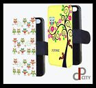Personalised Owl  Phone case iphone Samsung cover flip wallet gift present