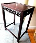 ANTIQUE CHINESE ROSEWOOD CARVED TABLE STAND 1900 END LAMP OCCASIONAL SIDE ASIAN